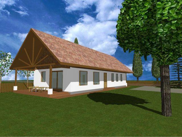 szalmabala tipusterv terasz felol modell