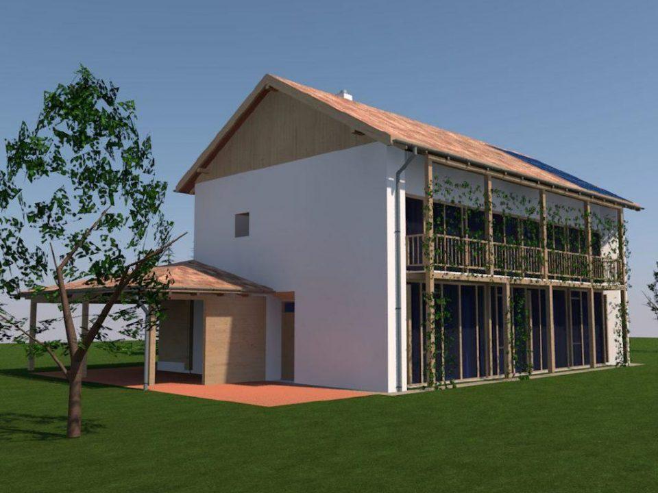 Bárdudvarnok első épületmodell foto